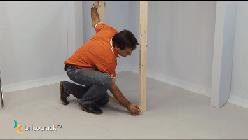 estructura tabiques yeso _ instalar precerco