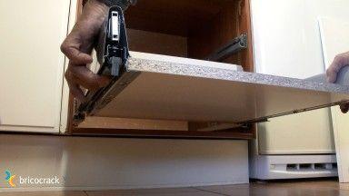 montar cajones y gaveteros cocina _ presionar tope
