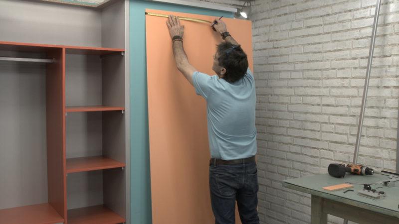 puerta corredera _ marcar posición pinzas