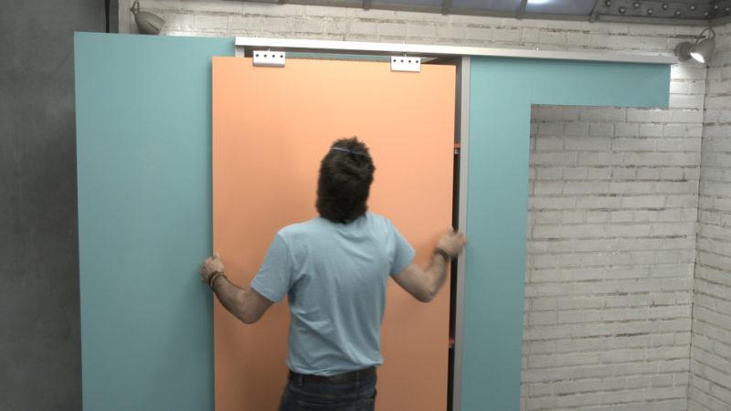 puerta corredera _ introducir en guías