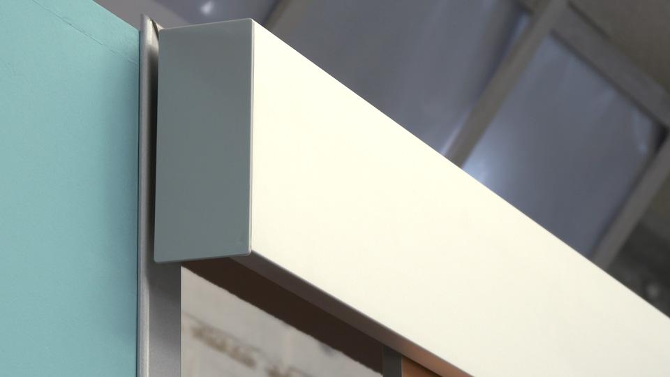 puerta corredera _ colocar tapas laterales