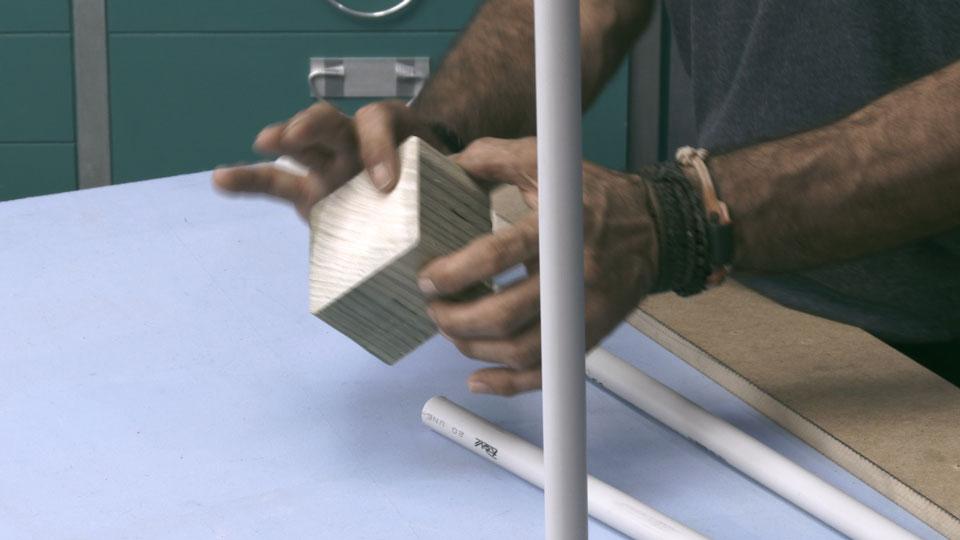 construir agility _ base palos slalom