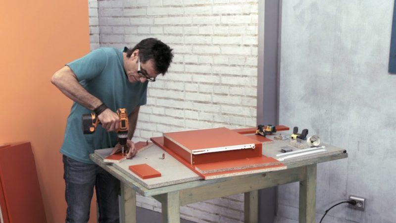 crear rincón trabajo _ fijar cajón