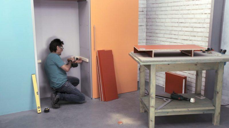 crear rincón trabajo _ posicionar mesa