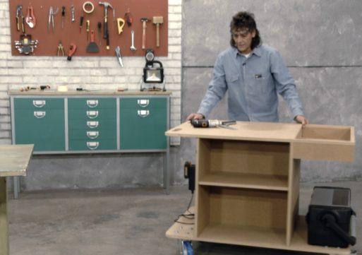 Construir un banco de trabajo portaherramientas con ruedas