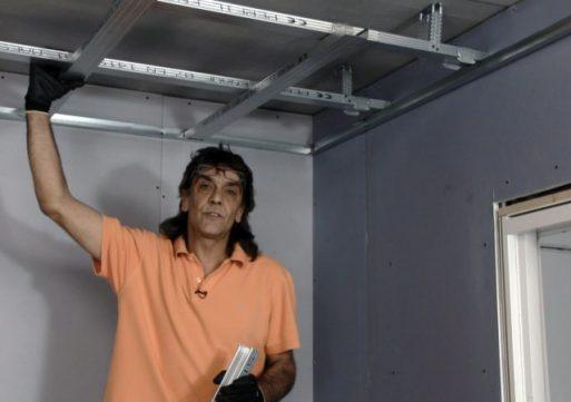 Cómo instalar techo o cielorraso suspendido con placas de yeso laminado