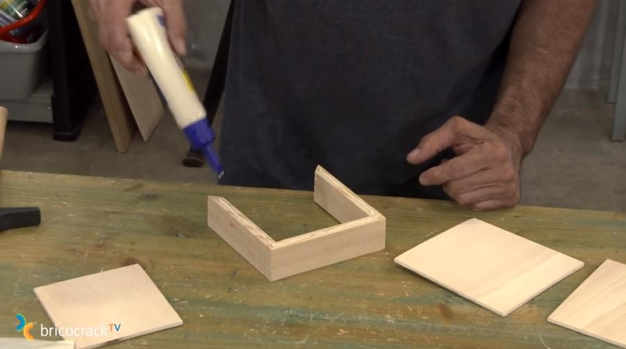 construir cajón secreto _ encolar cajón