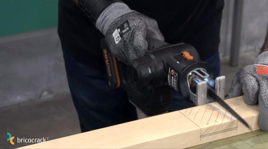 estructura mesa ruedas _ cortar ensamble a media madera