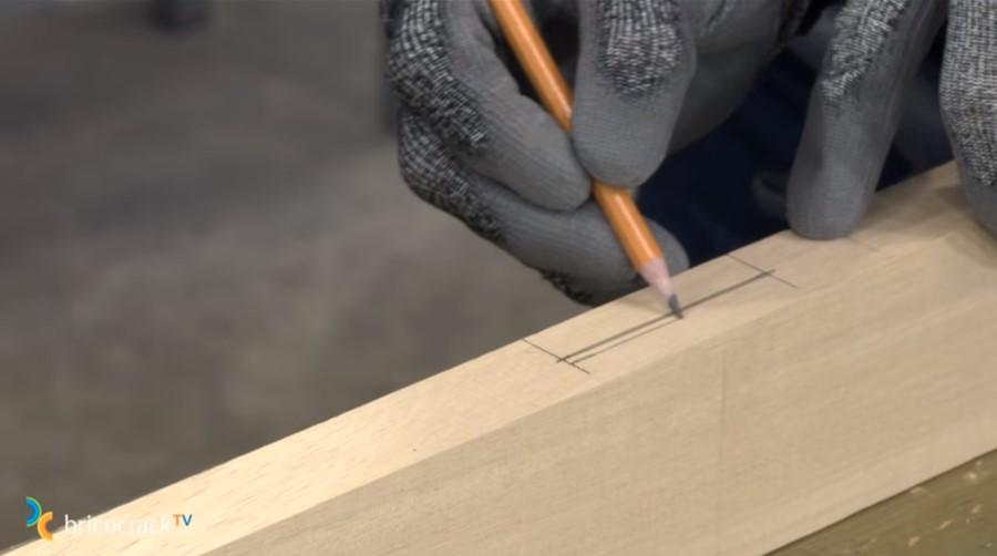 estructura mesa ruedas _ marcar ensamble a media madera