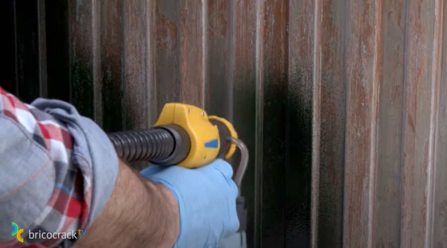 pintar puerta jardín _ pintar pistola