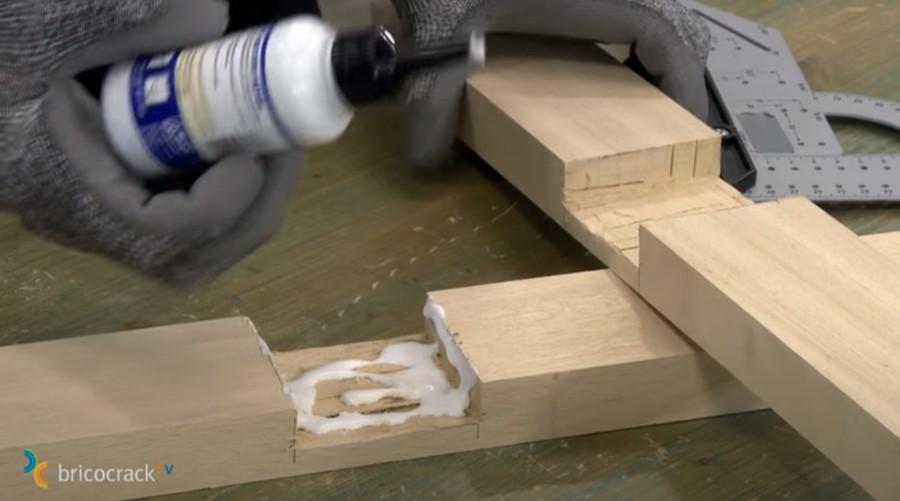 estructura mesa ruedas _ encolar ensamble a media madera
