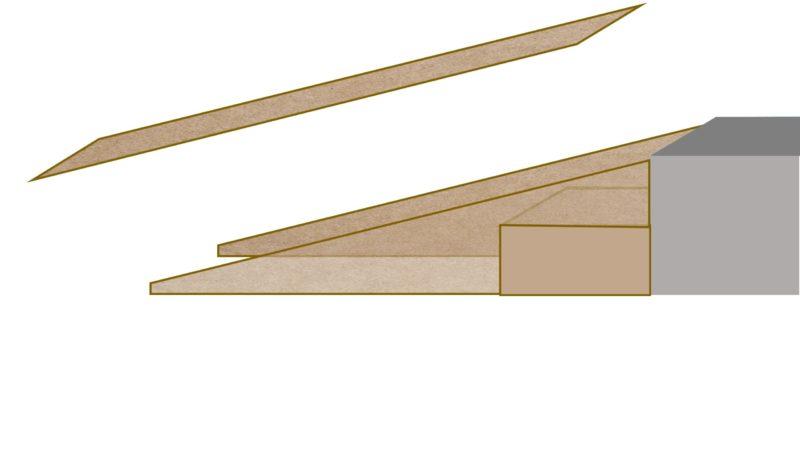 peldaño y rampa _ presentación piezas cortadas