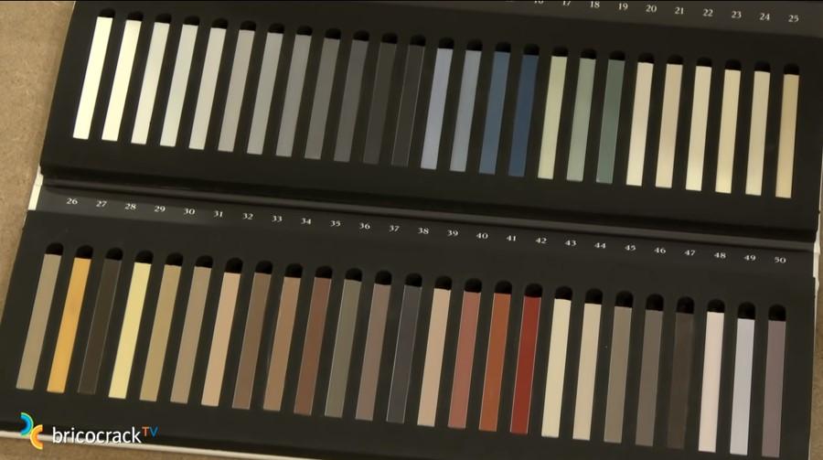 mortero baldosas rectificadas _ elegir color mortero