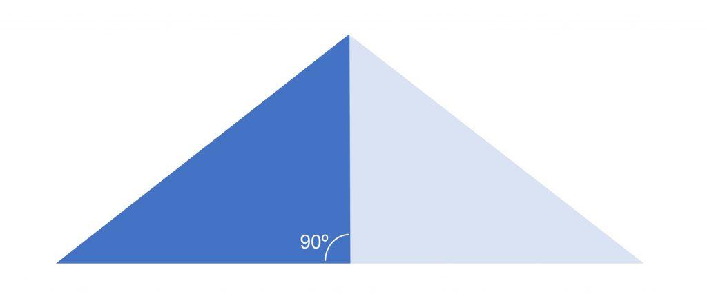 calcular ángulos construir _ ángulo rectángulo