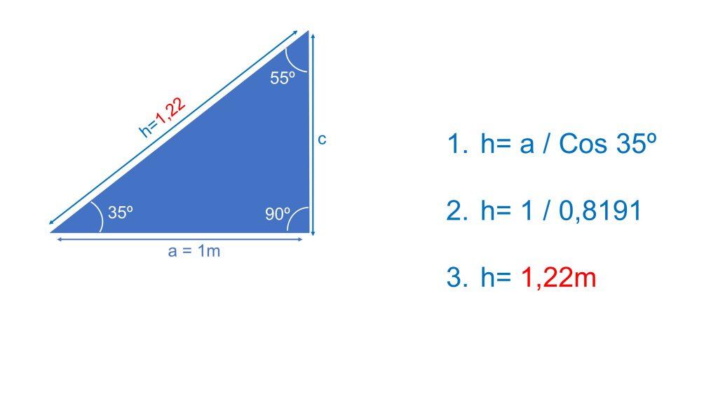 calcular ángulos construir _  calcular hipotenusa
