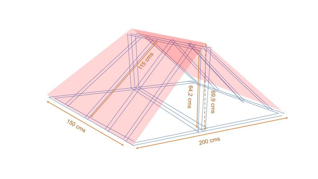 calcular ángulos construir _  Croquis armazón tejado