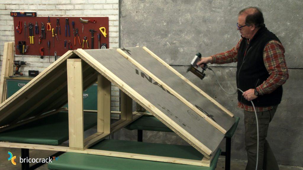 Colocando rastreles de tejado_bricocrack