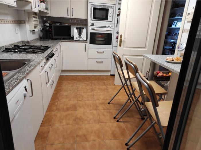 suelo vinílico cocinas viejas