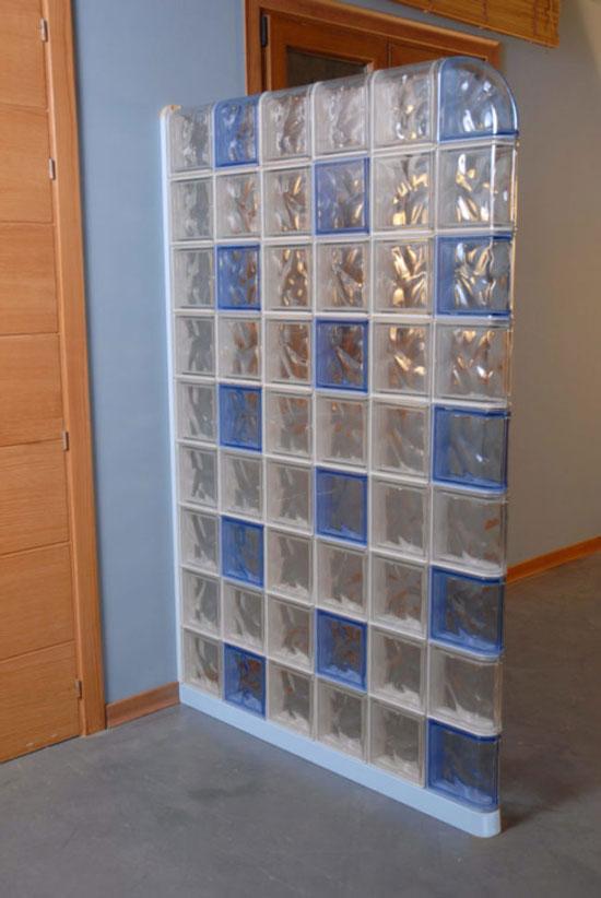 Instalar bloques de vidrio