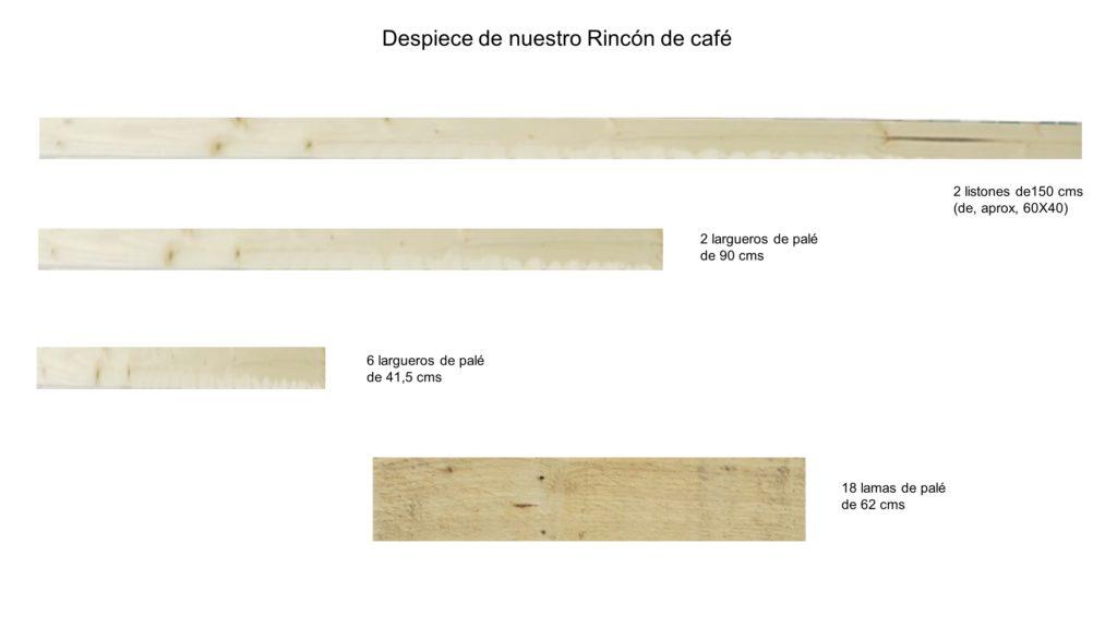 mesa cafe _despiece